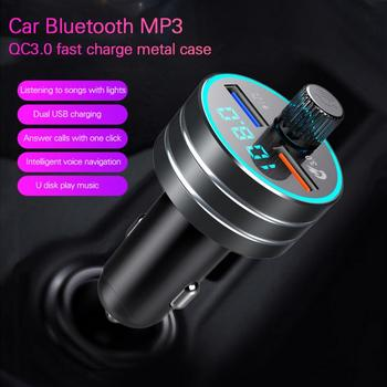 Car mp3 player bluetooth receiver For Car Universal 5V 3.1A QC3.0 Bual usb multifunctional car charger Auto Replacement Parts image