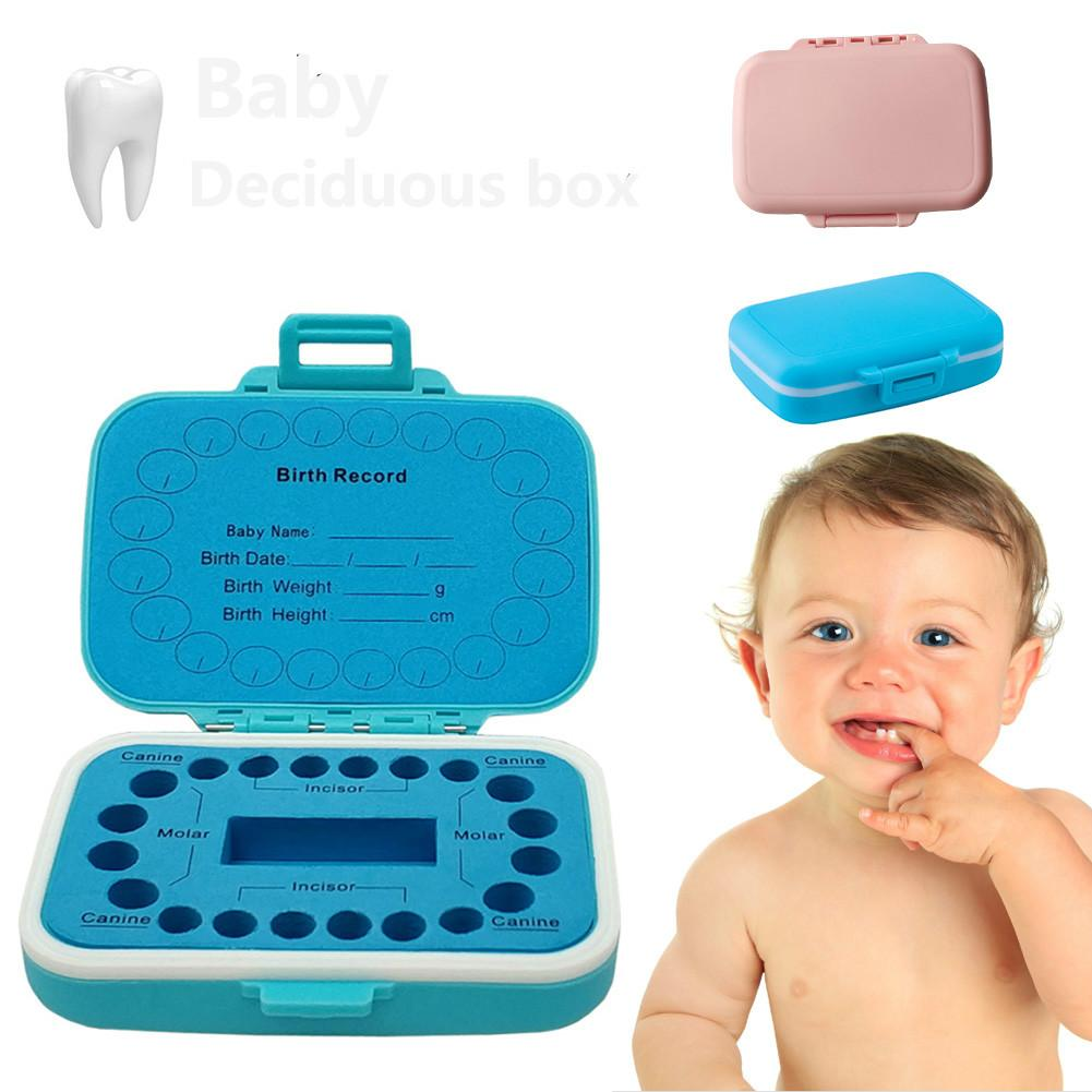 Baby Tooth Storage Box English Version Baby Tooth Hair Collection Box Soft EVA Lining Tooth Organizer Baby Souvenirs Gifts