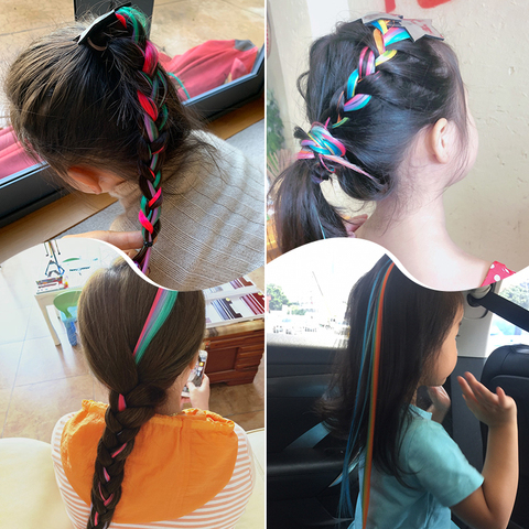Girls Cute Colorful Wig Cartoon Unicorn Hair Clips Sweet Princess Hair Ornament Headband Hairpins Kids Fashion Hair Accessories Karachi