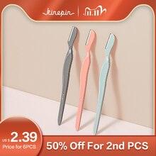 Kinepin 3 pçs sobrancelha trimmer rosto lâminas de cabelo mulheres sobrancelha barbeador depilação maquiagem ferramentas