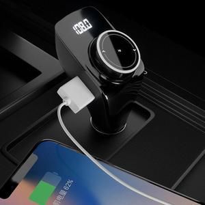 Автомобильный аудио mp3-плеер USB зарядное устройство светодиодный Bluetooth fm-передатчик AUX музыкальный адаптер