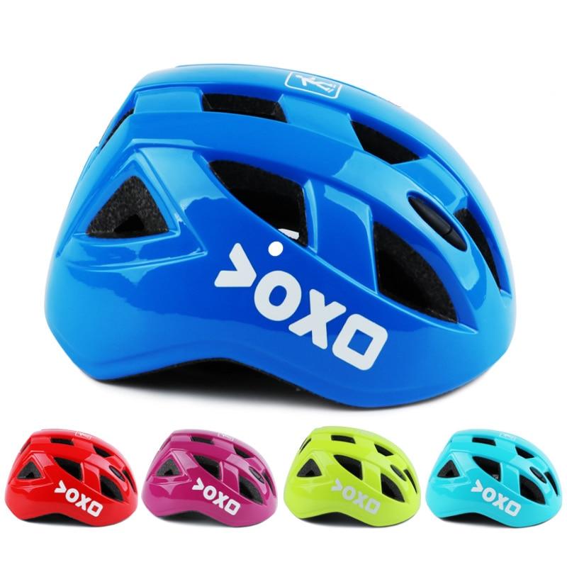 Colorful Ultra-light Kids Safety Bicycle Helmet Headpiece 14 Vents Children Skateboard Skating Riding Bike Helmet Capacete