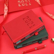 A5 2020 2021 agenda planejador calendário anual notebook portátil nota semanal manual diy diário organizador mensal agenda estacionária