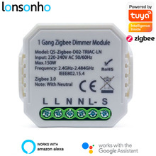 Smart Dimmer Switch-Module Relay Support Tuya Lonsonho With/no-Neutral Wireless-Control-Switch