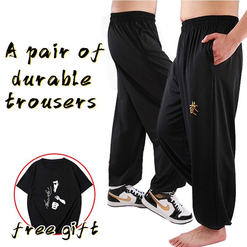 kung fu pants wing chun tai chi clothing  martial arts  yoga pants men loose  самурай   wushu   artes marcia pants
