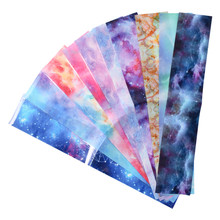 Nail Foils for Manicure Marble Shining Stone Designs Transfer Stickers Starry Sky Adhesive Wraps Decals 10pcs/set(China)