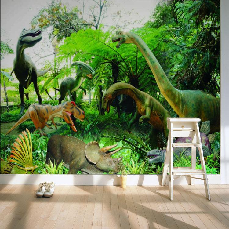 Custom 3d Mural Living Room Wallpaper Mural Custom Wallpaper Animal World Dinosaur Kingdom Children's Room Wallpaper