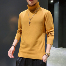 Warm Sweater Turtleneck Versatile Christmas-Knitted Slim Men Casual New Solid High-Quality