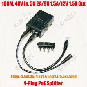 Image 1 - 100Mbps 4 تيار مستمر التوصيل 5 فولت 9 فولت 12 فولت قابل للتعديل شبكة PoE الخائن وحدة الطاقة عبر إيثرنت العرض 802.3af للكاميرا IP الأمن