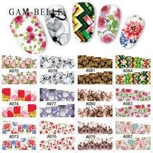 12 шт цветные наклейки для ногтей gam belle с цветком и маникюра