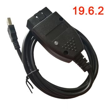 Główny kabel testowy do samochodu OBD2 złącze OBD2-OBDII-USB-interface tanie i dobre opinie vag 19 6 2 hex v2 150inch Plastic Testery elektryczne i przewody pomiarowe 0 15kg Depends on version choose (32 64bit) Win XP Win7 Win8 Win10 Pro