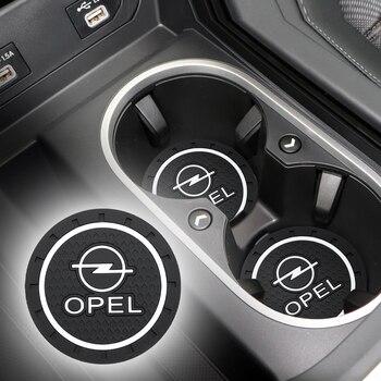 2pcs Car Coaster Silicone Epoxy Coaster Car Decoration for Opel astra opel astra h astra g insignia Opel mokka Accessories фото
