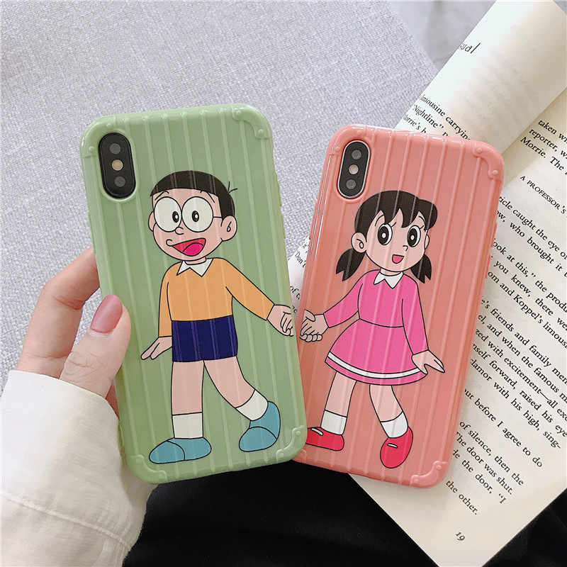 Cute Doraemon Nobita Nobi Shizuka Trunk Phone Case For ...