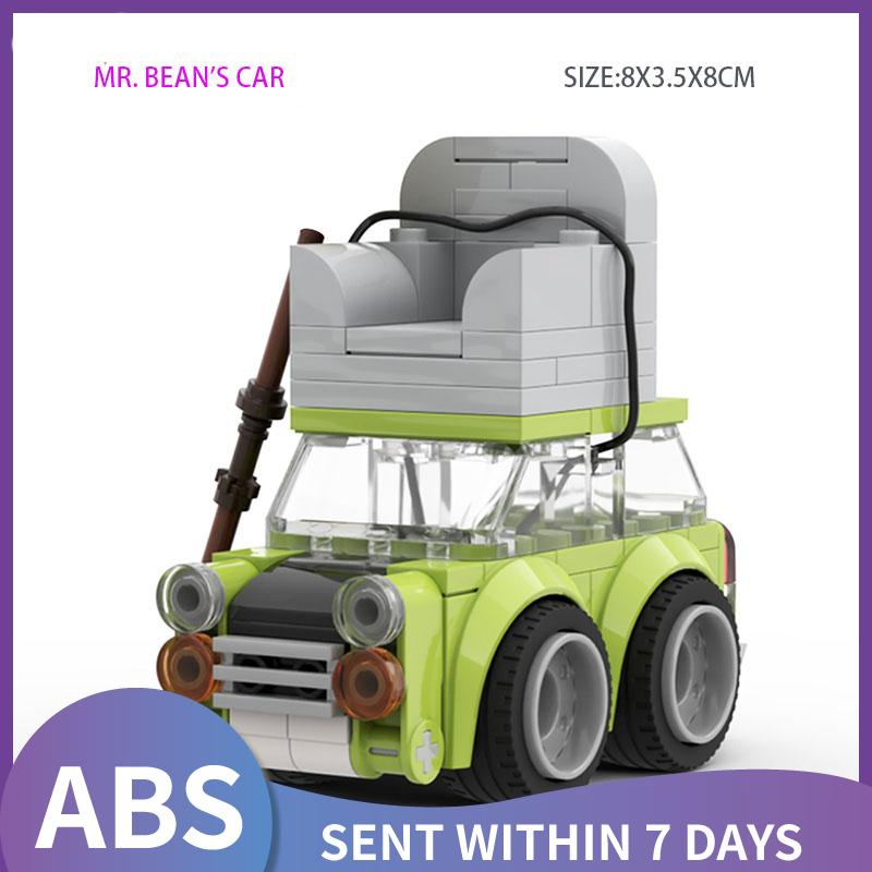 Конструктор MOC Speed Chumps Bean, мини-автомобиль с зеленой крышей и диваном, модель, строительные блоки Mr.Beans TV, коллекция «сделай сам», автомобильны...