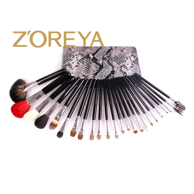 Набор кистей для макияжа, 24 набора кистей, черная деревянная ручка, Профессиональный набор кистей для макияжа, высококачественные косметические инструменты - 6