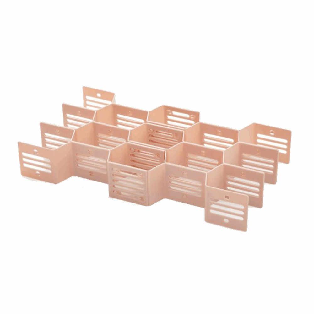 Комбинированный ящик для хранения Ящики для хранения нижнего белья ящик для хранения сотовые перегородки шкатулка с отделкой для хранения домашних запасов