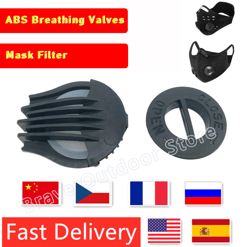 20PCS Mask Valve Bicycle Riding Mask Breathing Valve Replacement Air Breathing Valves Mask Filter Mask Accessories