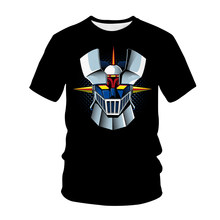 Anime Movie Robot Mazinger Z 3D Printed T-Shirt Streetwear Men Women Fashion T-Shirt Boys Girls Tops Children T-Shirt Tops