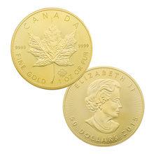 Kanada złote monety Maple Leaf Commonwealth Queen moneta pamiątkowe zbieraj prezent Token Drop shipping