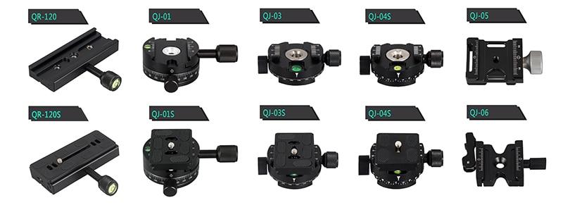 Штатив-Трипод для панорамной съемки с зажимом для камеры, монопод с быстросъемной пластиной, вращающийся зажим для штатива камеры arca plate dslr