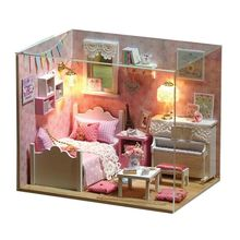 High Quality Children Toys Manual DIY Cabin Assembled Model Sunshine Boys Girls Birthday Holiday Gifts E65D