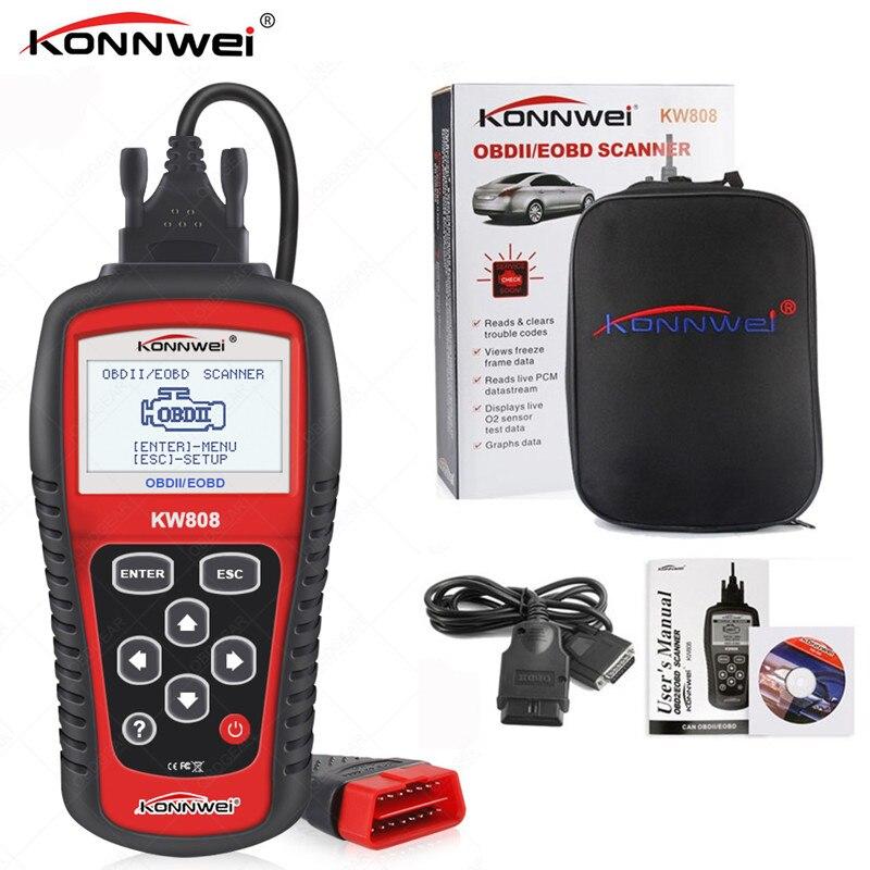 KONNWEI KW808 OBD2 Car Scanner OBD Auto Diagnostic Tool Engine Fault Code Reader