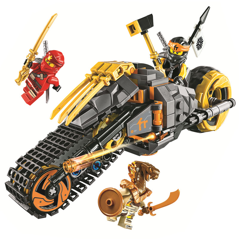 Ninjagoed Cole's Dirt Bike Building Blocks Kit Bricks Classic Movie Ninja Model Kids Toys For Children Gift