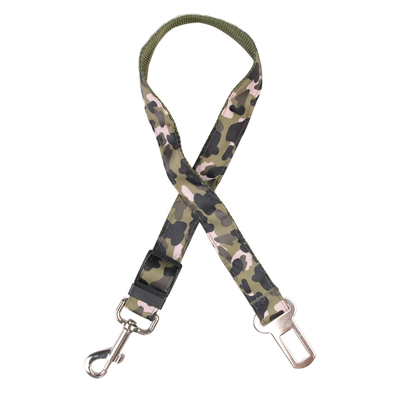 Pet Camouflage Safe Rope Dog Nursing Automobile Safety Belt Retractable Dog Safety Belt