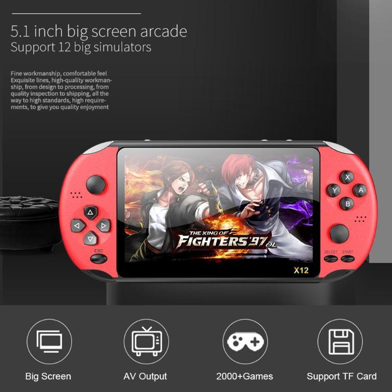 Alloyseed x12 plus 5.1 lcd handheld game