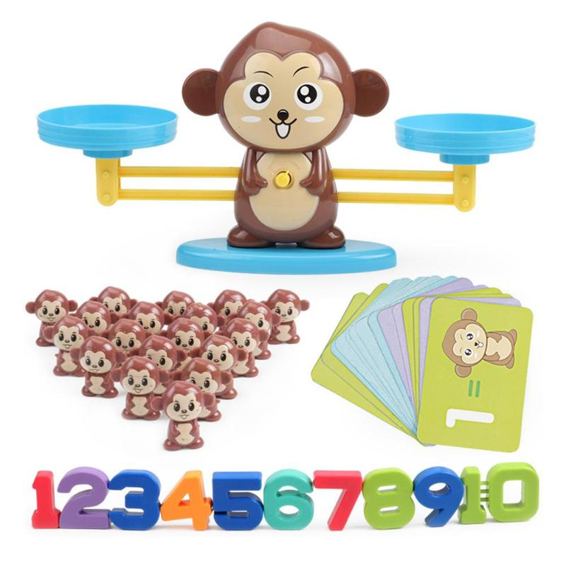 Monkey Balance Counting Toys Fun Number Learning Material Educational Toy Toddler STEM Math Games For Children