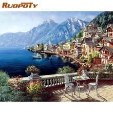 Ruopoty Рамка diy Раскраска по номерам картина пейзаж настенное