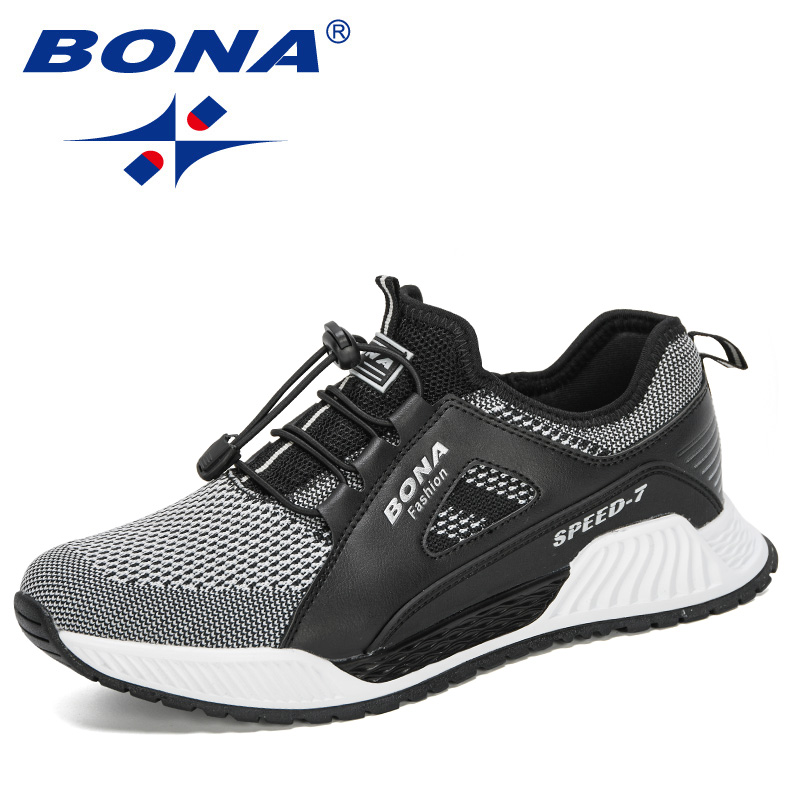 BONA 2020 New Designers Mesh Men Casual Shoes New Arrival Ventilation Fashion Sneakers Outdoors Tourism Men Shoes Comfortable