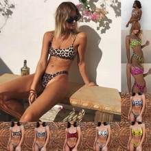 Sexy Lady Snakeskin Bikini Women Swimwear Leopard Bikinis Sexy Biquini Swim Suit Push Up Swimsuit Female