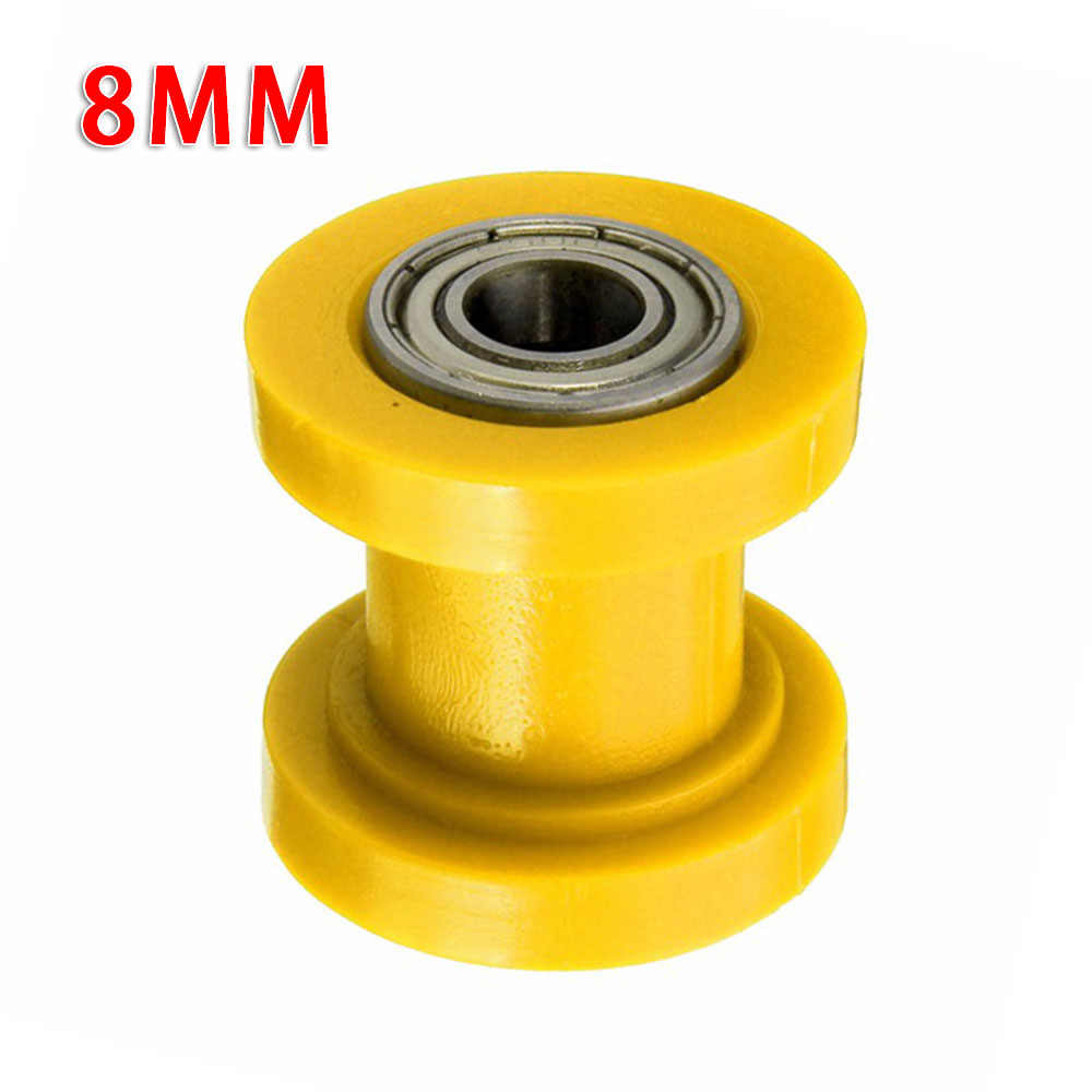 8mm//10mm polea de rodillo de cadena tensor tensor de cadena de transmisi/ón rodillo tensor gu/ía de rueda tensor para bicicleta de calle motocicleta ATV 8MM-Azul