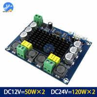 TPA3116D2 XH-M543 de doble canal estéreo de alta potencia Digital Amplificador de Audio placa 2*120W Amplificador DIY Módulo 12 V-24 V