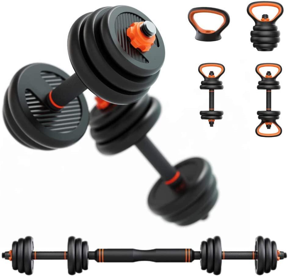 Einstellbar Hantel Set Dumbell Gewichte 10kg 4-In-1 Nicht-Slip Neopren Hand Kettlebell Barbell Fitness bodybuilding Sport