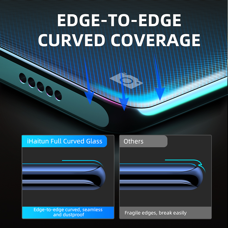 Image 2 - iHaitun 6D Glass For Samsung Galaxy S10 S10e S9 S8 Plus Full Curved Screen Protector For Samsung Note 10 Plus 9 8 Tempered Glass-in Phone Screen Protectors from Cellphones & Telecommunications