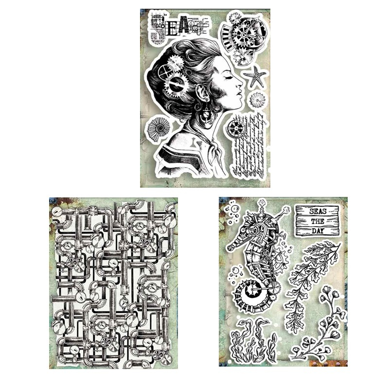 15 X 20 CM 2020 DIY New Stamps For Scrapbooking And Clear Stamps Card Making HD Natural Rubber Stamp Account Craft Set