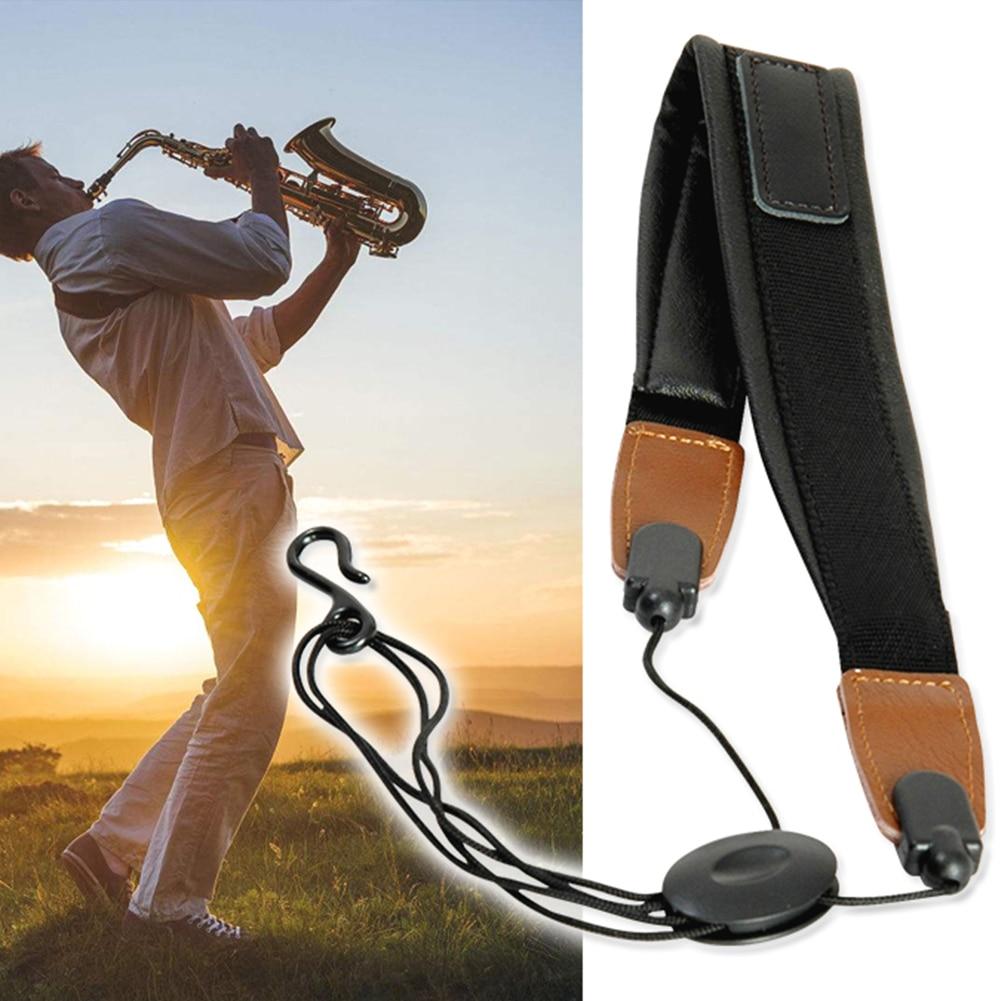 Universal Adjustable Soft Leather Saxophone Sax Neck Strap Saxophone Accessories