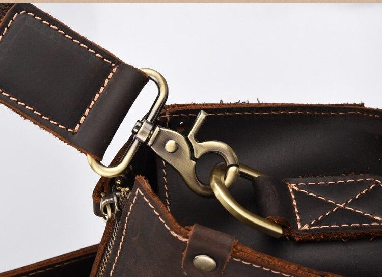 MAHEU Hoge Kwaliteit Echt Leder Hand Aktetas Crazy Horse Lederen Computer Tas Laptop Ipad A4 Korte Case Voor Man Man jongen - 4
