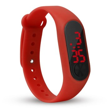 цена на LED Electronic Digital Bracelet Watches Casual Sports watch Candy Color Silicone Couples Wrist Watch