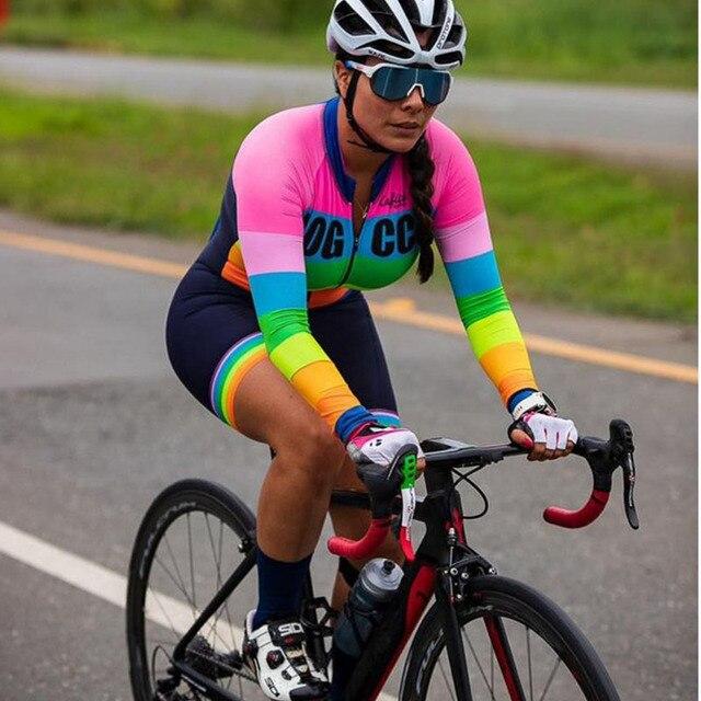 2019 macaco macacão feminino triathlon ciclismo terno profissional bicicleta corrida verão terno 9d almofada de condensação manga longa 1