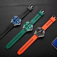 GEJIAN Smart Watch Men Bluetooth Call TFT Card Music Player For Android ios 2021 New Luxury Steel Belt Sports smart watch mens