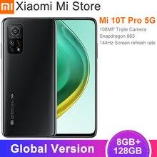 Глобальная версия Xiaomi Mi 10T Pro смартфон 8 Гб оперативной памяти 128 ГБ ROM Snapdragon 865 Octa Core 144 Гц 108MP Автомобильная камера заднего вида 6,67
