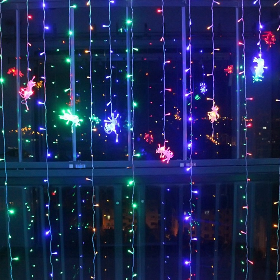 3x1/3x2/6x3m Led Wedding Fairy String Light Christmas Light 300 Led Fairy Light Garland For Garden Party Curtain Decoration