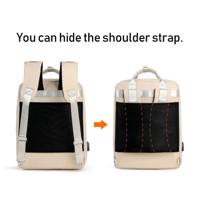 Wodoodporny 15.6 Cal plecak na laptopa kobieta moda dziewczyna plecak kobiet torba różowy wielofunkcyjne USB Bagpack o dużej pojemności 2019