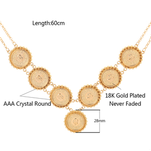 Image 5 - NEW Arabic Coin Crystal Muslim Islam Allah Necklace for Women Gold Color Arab/Africa Islamic Like Jewelry Make Money Gift Lucky