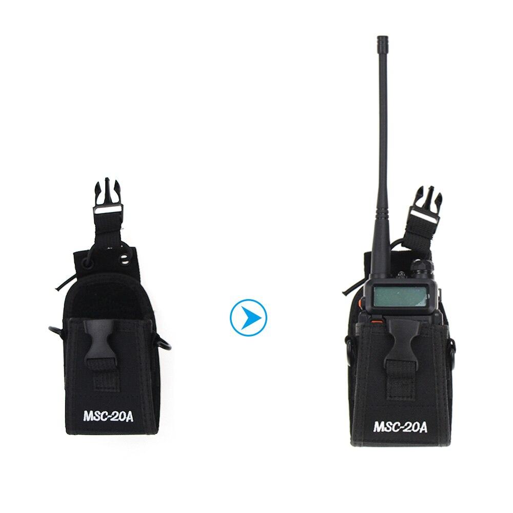 Walkie Talkie Multi-function Two Way Radio Case Holder MSC-20A Bag For BAOFENG UV5R UV82 UV8D UV6 GT-3