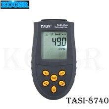 TASI-8740 Бесконтактный тахометр 2,5~ 99999 ОБ/мин Диапазон оптический тахометр для двигателя ЧПУ лазерный станок для скорость тестер