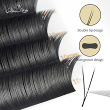 GLAMLASH V Form Ellipse Flache Split Tipps YY Wimpern Verlängerung Vorgefertigten Volumen Maquiagem Cílios Einzelne Seide V Typ 2D Wimpern